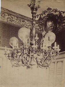 Versailles-Lustre-Louis-XIV-Paris-France-Vintage-Albumine-ca-1880