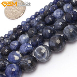 Natural-Gemstone-Blue-Sodalite-Round-Loose-Beads-For-Jewellery-Making-15-034-Strand