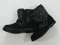 Old Navy Toddler Girls Size 8 Black Sweater Moto Booties Boots Shoes