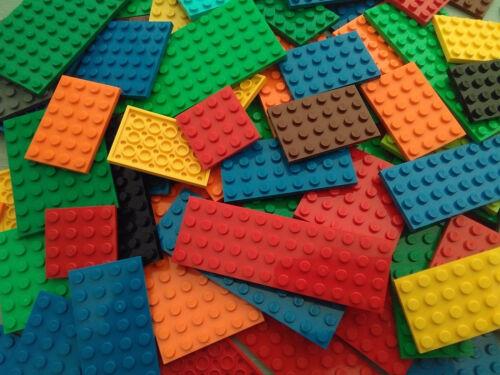 LEGO 10 MIXED COLOUR PLATES