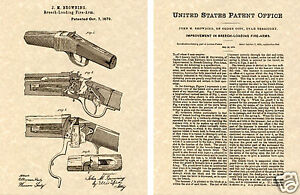 WINCHESTER-1885-Single-Shot-Rifle-PATENT-Art-Print-READY-TO-FRAME-Browning