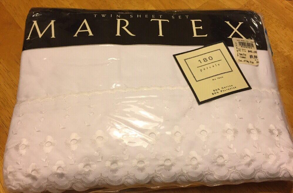 Martex Twin Sheet Set 180 ct