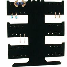 24 Pair Earring Necklace Bracelet T Bar Black Display