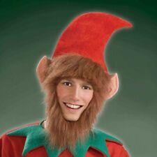 6a1553b0c4f08 Elf Hat   Ears   Beard Santas Helper Holiday Party Adult Christmas Costume  Cap