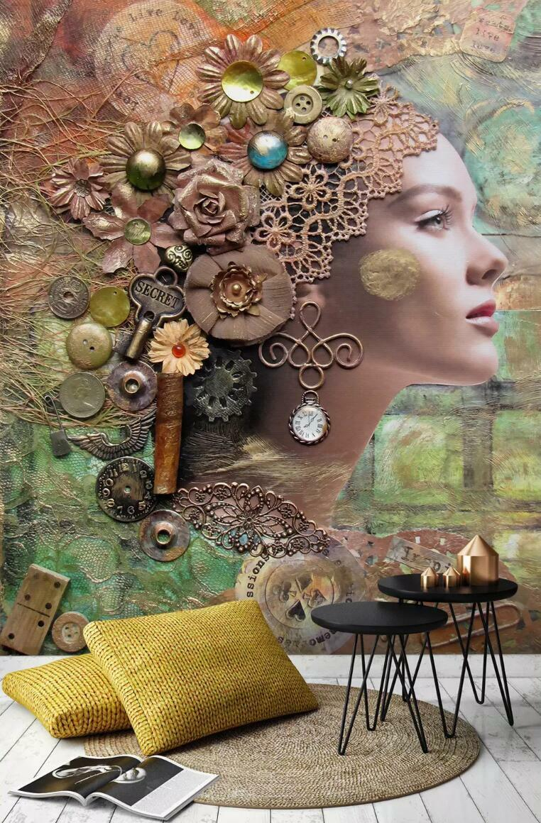 3D Floral Beauty 7442 Wall Paper Exclusive MXY Wallpaper Mural Decal Indoor Wall