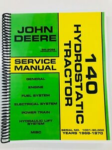 SERVICE-MANUAL-FOR-JOHN-DEERE-140-HYDROSTATIC-TRACTOR-SM2086-REPAIR-MANUAL