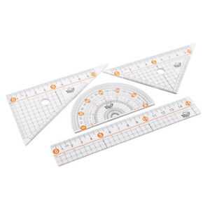 4pcs-set-Geometry-Ruler-Tool-Set-Drawing-Measuring-Protractor-Triangle-Ruler