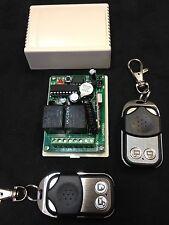 (2 remotes )   RF Wireless Electric Garage Gate Door Remote 2 Channel