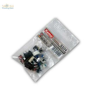 Sortiment-Microschalter-und-Microtaster-ca-30-Stk-Mini-Schalter-amp-Taster