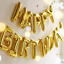 Gold-Happy-Birthday-Foil-Balloon-Bunting-Banner-Set-FREE-Straw-Ribbon-5m thumbnail 1