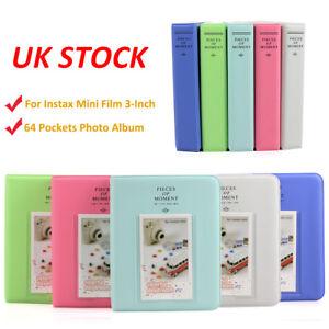For Fujifilm Instax Mini 7s 8 9 70 90 Camera Film 3-Inch Photo Album 64 Pockets