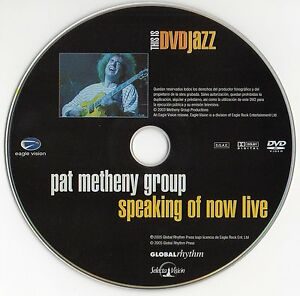 PAT-METHENY-GROUP-034-SPEAKING-OF-NOW-LIVE-034-ULTRA-RARE-SPANISH-DVD-SLIM-CASE-JAZZ