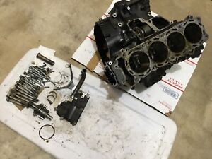 06-11-KAWASAKI-ZX14-ENGINE-MOTOR-CRANKCASE-CRANK-CASES-BLOCK-BALANCER-BOLTS