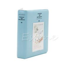 64 Pockets Album Photo Case For Fujifilm Mini8 Instax 7s 25 50s 90 Polaroid Blue
