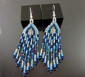 9128adbeffc2d6 Huichol Beaded Earrings Art 3.5