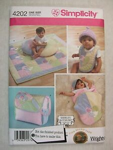 Baby Accessories Sewing Pattern Simplicity 4202 Read Full Listing Info