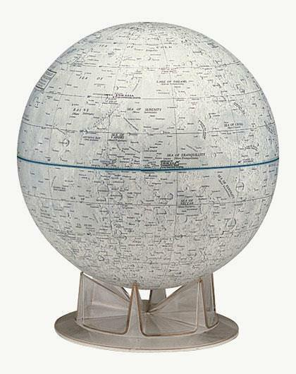 Moon Desk Globe Lunar Geography Craters Seas Moutain NASA Approved Astronomy 12