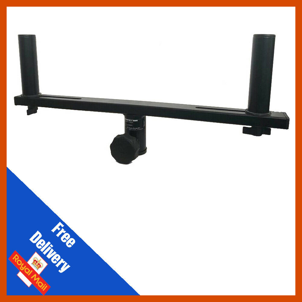 Pair 2 x Adjustable Dual Stand Extensions T-Bar adaptor for 35mm Speaker Stands