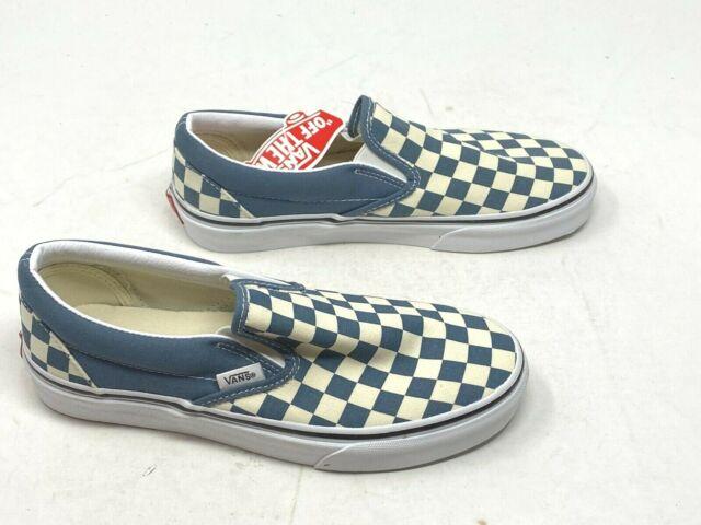 ala diluire estinzione  VANS Mens Classic Slip on Checkerboard Blue Mirage Canvas Skate Shoes Size  9 for sale online   eBay
