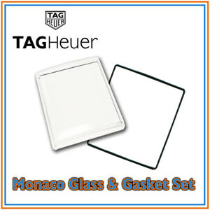 TAG-Heuer-Monaco-Vetro-Acrilico-Cristallo-amp-Guarnizione-Set-di-alta-qualita-SWISS-MADE