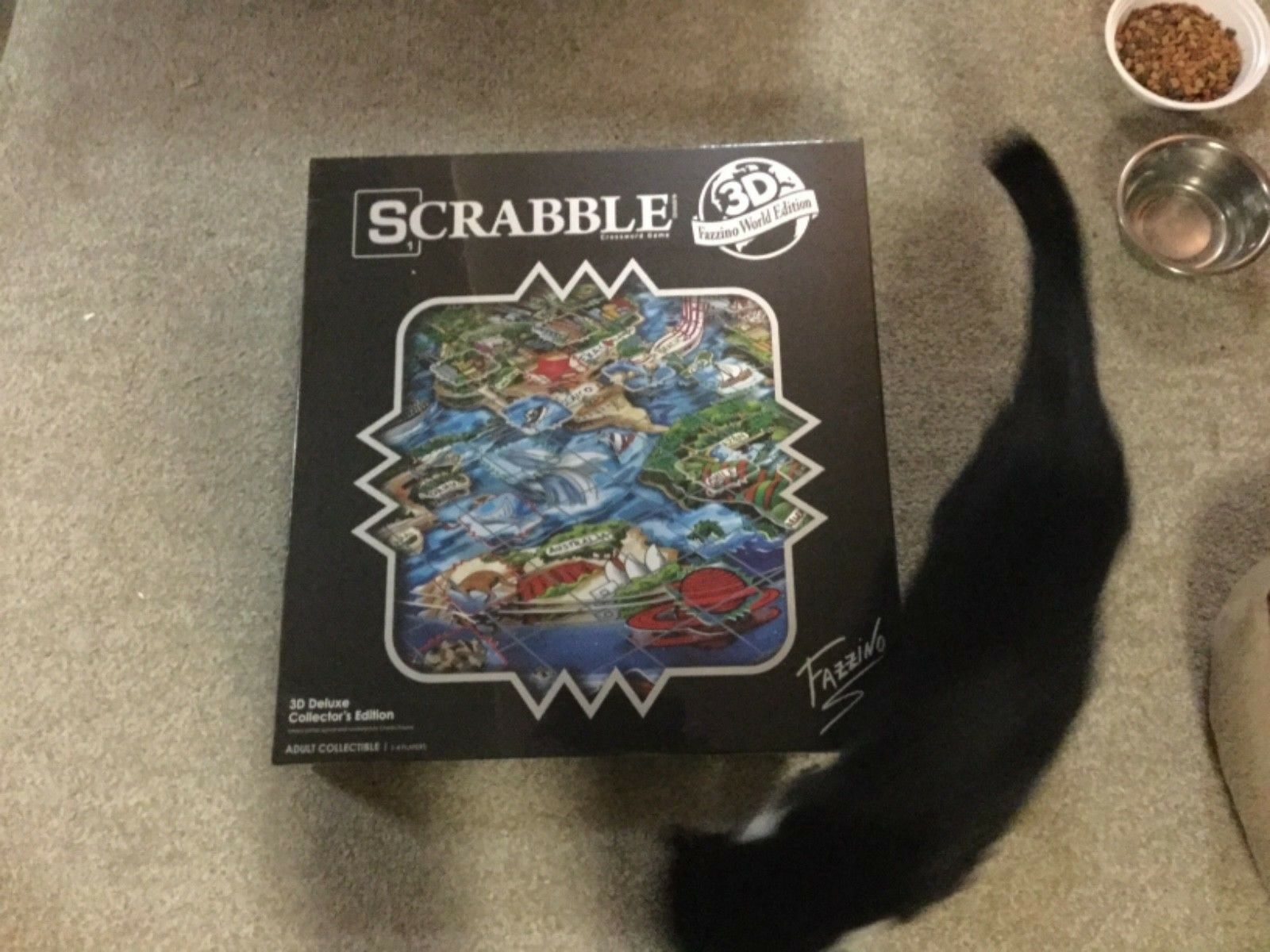 SCRABBLE® LIMITED EDITION HAND SIGNED BY CHARLES FAZZINO **NEW**807/2000