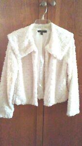 New-Fever-White-Cream-Short-Coat-Jacket-Size-M-Medium-Light-Weight