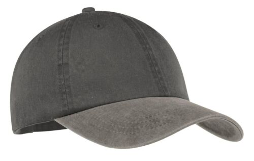 12  Custom Logo Port And Company Two-Tone Pigment-Dyed Cap CP83 Hat Caps