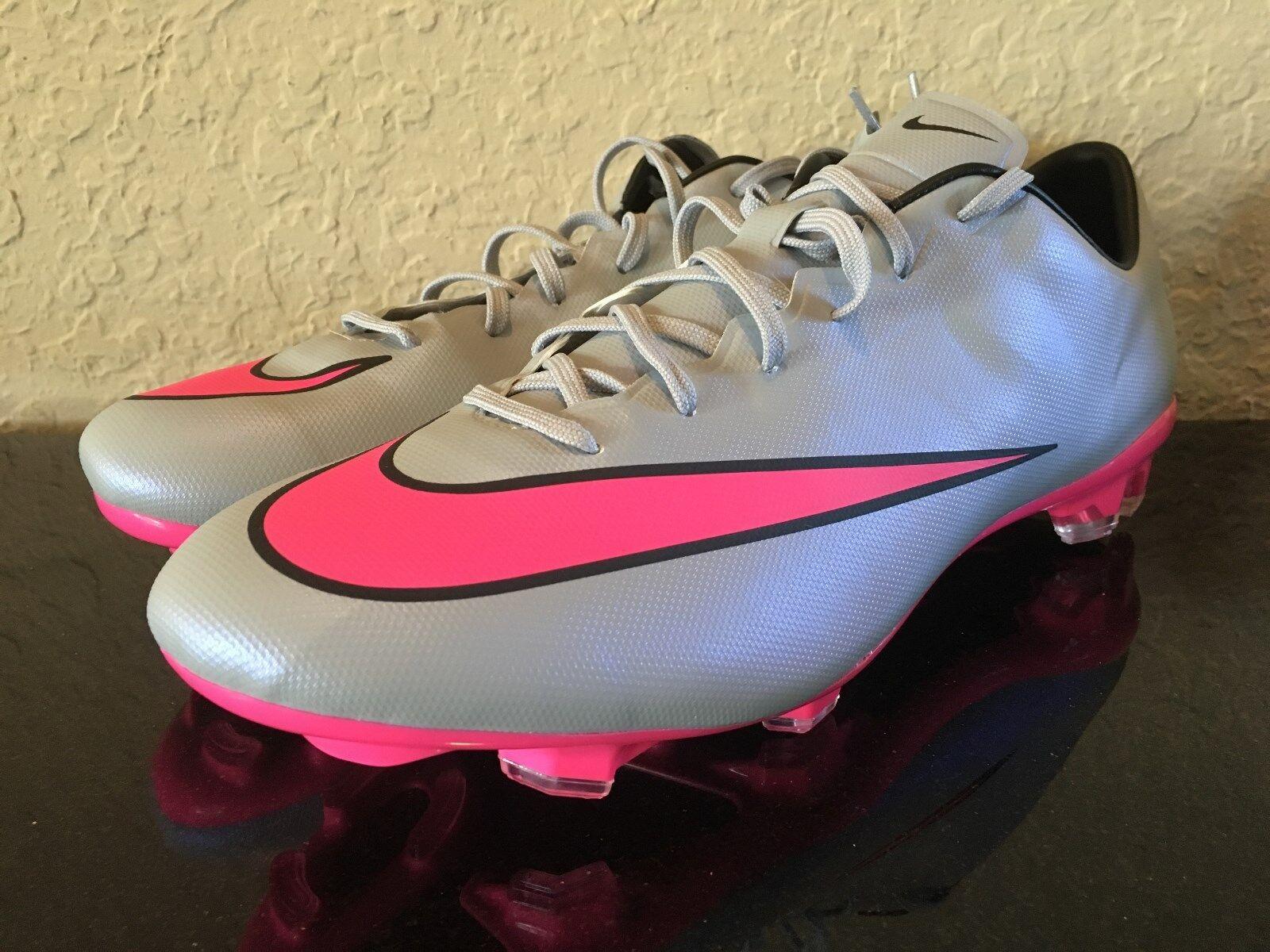 Nike Mercurial Soccer Veloce II 2 FG Soccer Mercurial Cleat Grey Pink 3c7a4b
