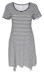 SHEEGO Damen Kleid Jersey Strandkleid schwarz weiß ...