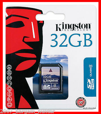32GB KINGSTON SD HC HIGH CAPACITY SDHC MEMORY CARD DIGITAL CAMERA CLASS-4 FIRST