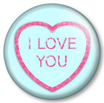 Saint Valentin Badge 25mm Button Pin Love is sweet 1