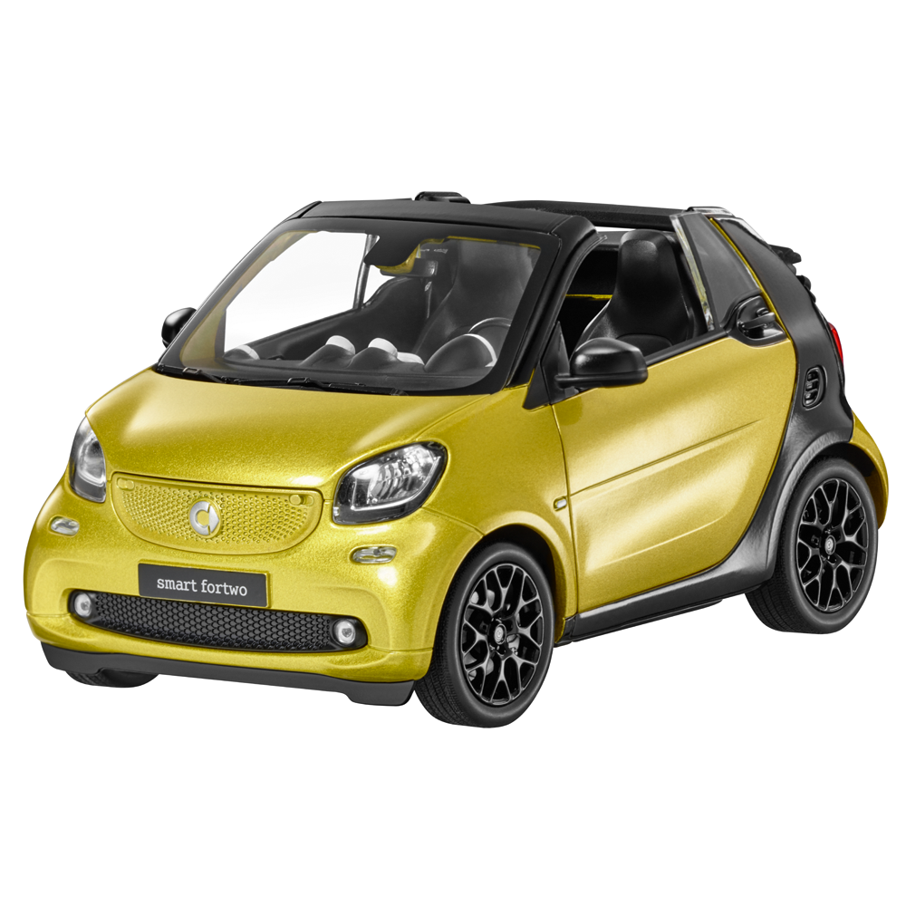SMART FORTWO FORTWO Cabriolet a453 1 18 Voiture Miniature metallic-jaune noir b66960289