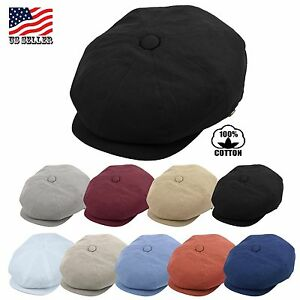 Image is loading Mens-Newsboy-Cap-Patchwork-Cabbie-Driving-Cap-Summer- 483433a94501