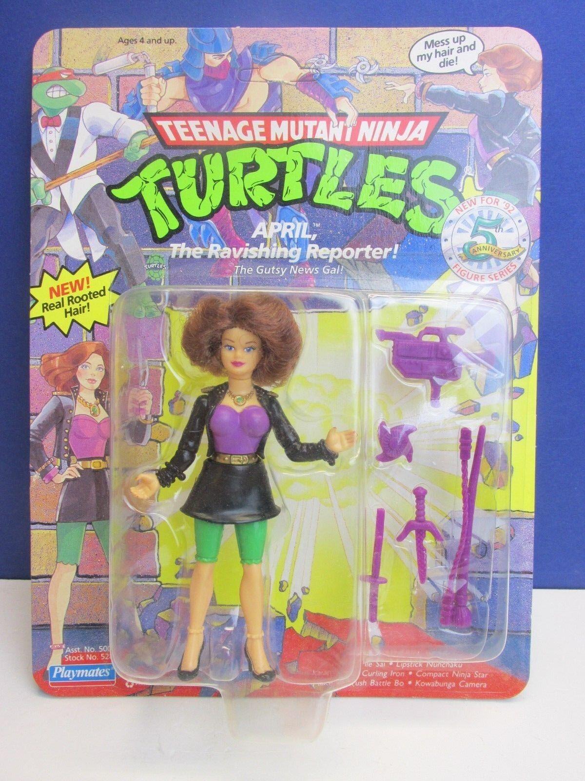 Teenage MUTANT NINJA TURTLES TMNT affascinante REPORTER APRILE Action Figure 32z