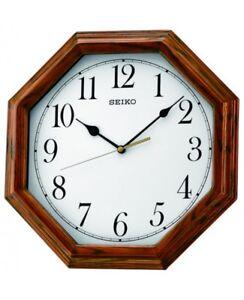 Qxa529b Nuevo Seiko Detalles Octagonal Reloj De Pared CtsQrdxh