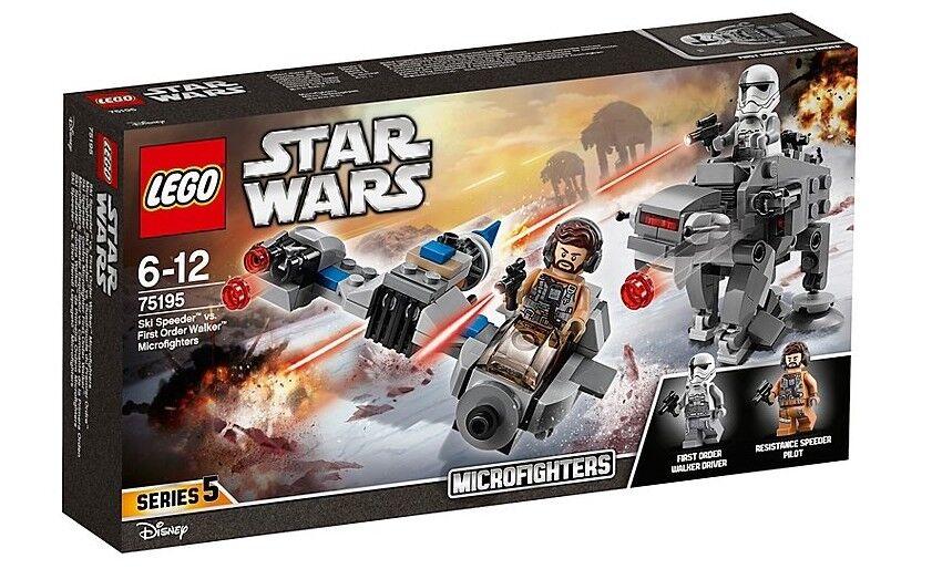 LEGO estrella guerras 75195  Ski Speeder Vs. primero Order  Walker Microcombatientes (nuovo)  incredibili sconti