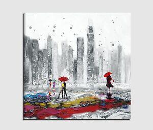 quadri moderni dipinti a mano su tela bianco nero skyline