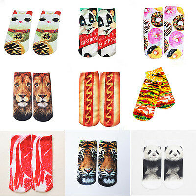 3D Printed Unisex Mens Womens Socks Cute Low Cut Ankle Socks Multiple Colors  tb