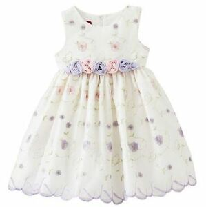 NWT-Toddler-Girl-Princess-Faith-Floral-Embroidered-Dress-4T-perfect-for-Easter
