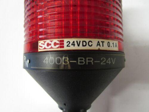 FREE SHIPPING SCC 4003-BR-24V 0.1A 24VDC RED LED-STACK LIGHT USED