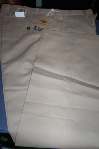 NWT $55 DOCKERS D3 COMFORT WAIST KHAKI FLAT FRONT PANTS-BEIGE-32x32