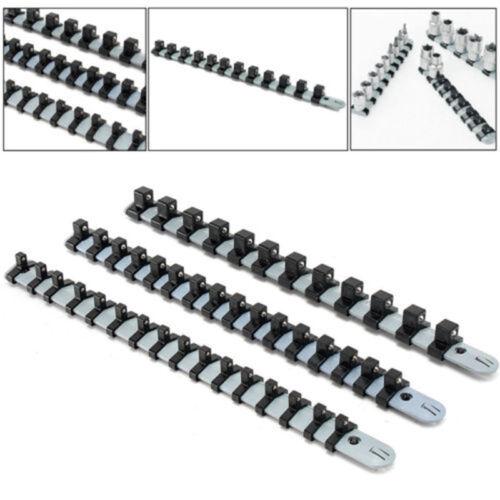 3PCS 1//4 3//8 1//2 Inch Sockel Tablett Schiene Gestell Halter Aufbewahrung