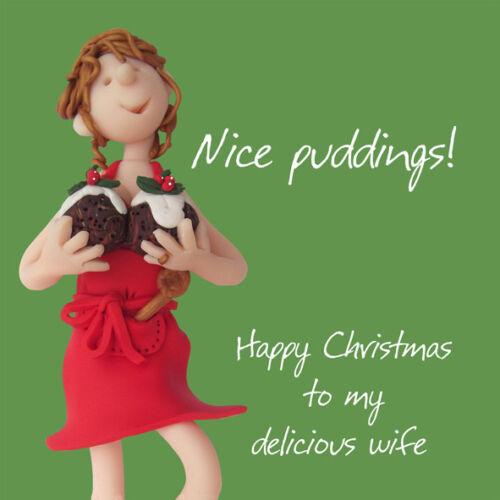 NICE poudings Femme Noël Carte de vœux une bosse ou deux HOLY MACKEREL cartes