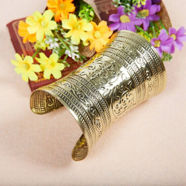 New One Tribal Belly Dance Costume Jewelry Bracelet Bangle Gold Accessory