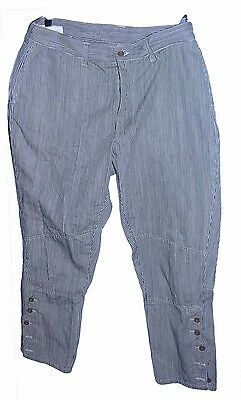 Sincere Nwt Bakkurii Cropped Casual Pants Jodpur Style Blue Striped Size 2 Pants