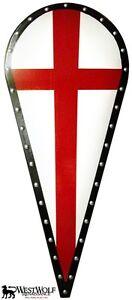Details About Red Cross Kite Shield Scalarpcrusadescrusaderknightvikingwoodenarmor