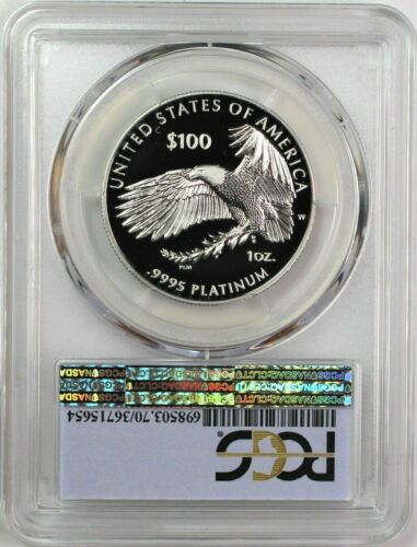 2019 W $100 Proof Platinum Eagle PCGS PR70 DCAM First Strike First Day of Issue