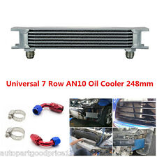 7 Row AN10 Aluminum Engine Transmission Racing Oil Cooler 248mm w/ Fittings Kit