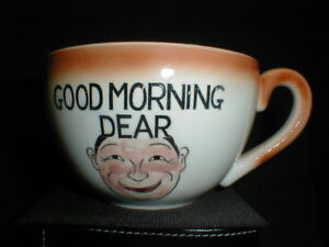 Good Morning Grouch Dear Large Novelty Coffee Tea Cup Mug Made In