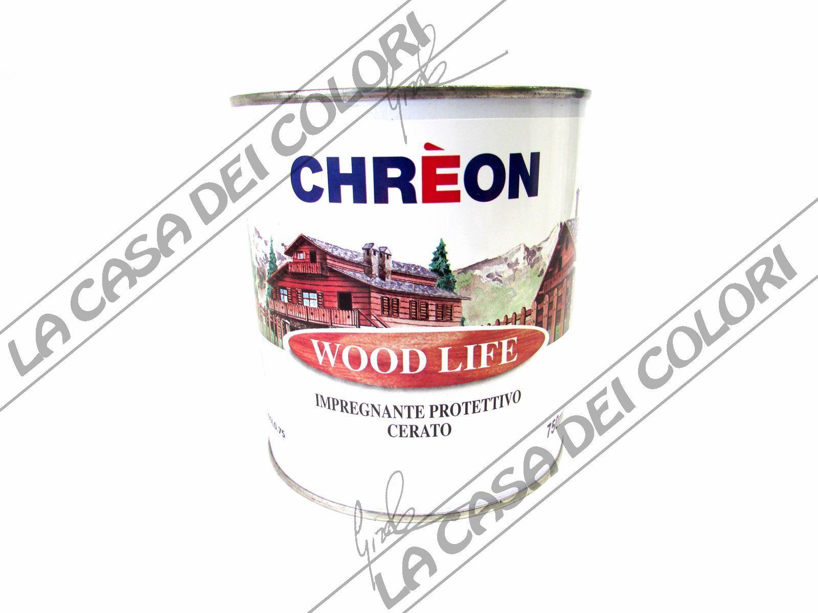 CHREON - WOOD LIFE IMPREGNANTE CERATO - TINTE CARTELLA CARTELLA CARTELLA - 750 ml- in offerta -50% b4301d